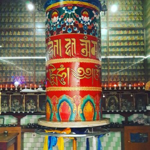 Mcleod is where you'll find most of the temples and prayer wheels such as this one in the area