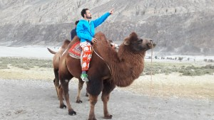 Riding that camel into the sunset!