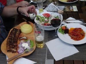 Traditional Romanian platter available at most local restaurants