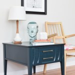 Teal Green Mid Century Side Table