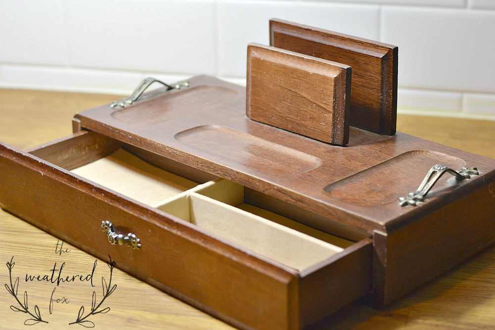 Stationary Box thrifty Makeover Before