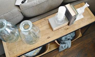 Industrial Farmhouse Sofa Table