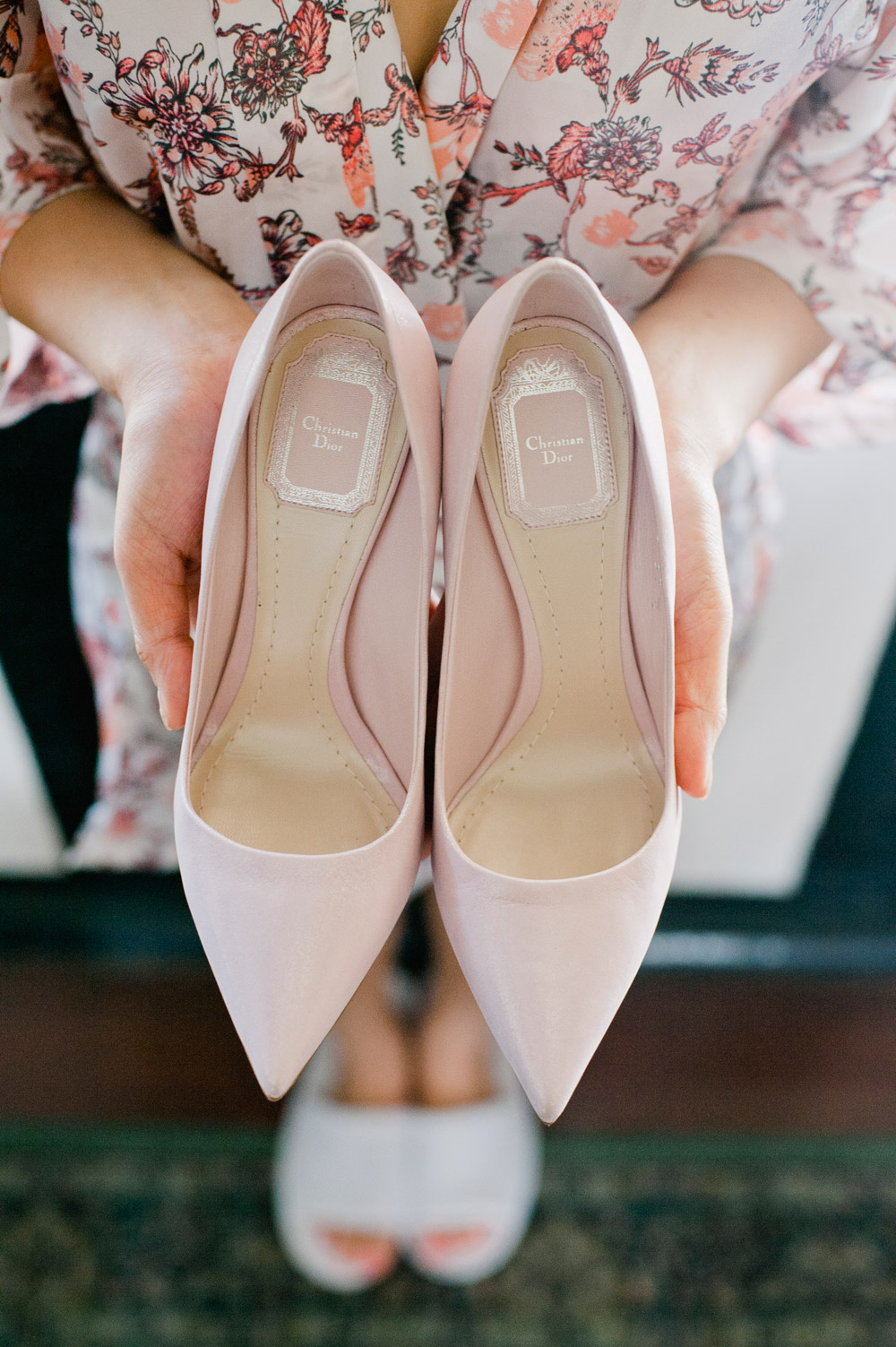 Daren Chong Photography. Christian Dior wedding shoes. www.theweddingnotebook.com