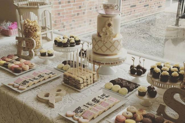 Vintage Style Sweets Table by Cakeoholics