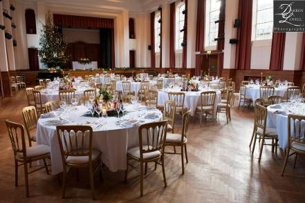 Our gold cheltenham chairs with ivory seat pads on hire at Talbot Heath