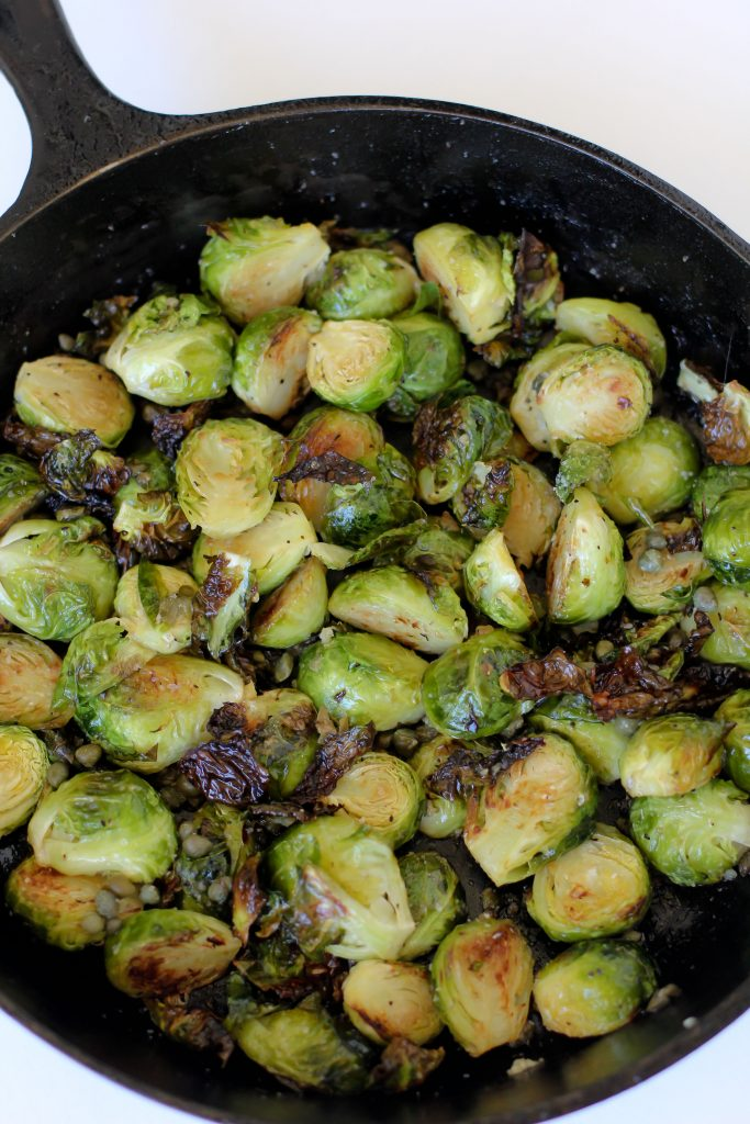 Double crisped and zesty! The perfect way to cook your brussels sprouts. Gluten-free, paleo, vegetarian, and Whole30 compliant.