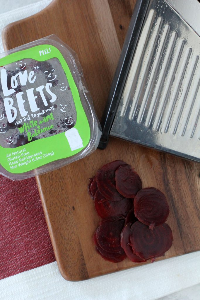 An easy to make sandwich from the Whole Smiths using healthy Love Beets beets, pears, goat cheese and more.