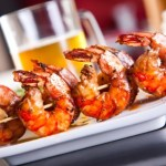 grilled shrimp with garlic & beer