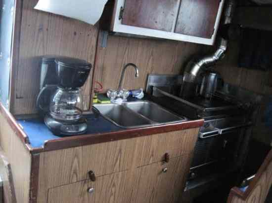 Galley on Boat, Alaska