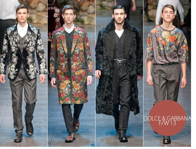 milan_fashion_week_dolce_gabbana_floral_collection_fall_winter_2013_2014_menswear1