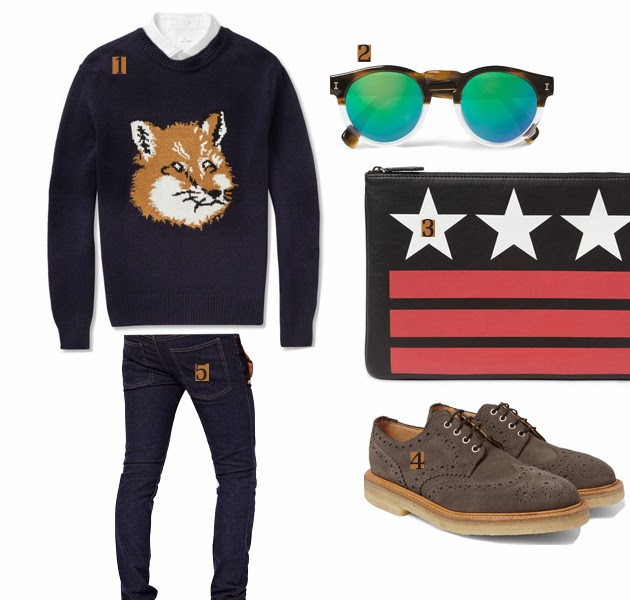 givenchy_clutch_illesteva_sunglasses_fox_sweater_outfit_selection_