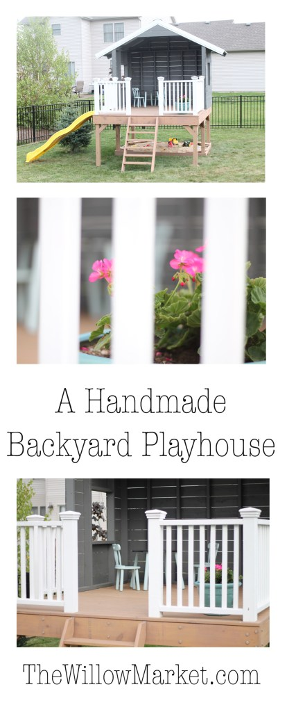 The Handmade Hideaway. A Homemade playhouse.