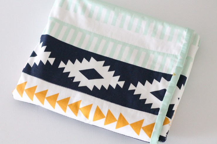 13How to sew a baby blanket. April Rhodes Arid, Arizona Line. Aztec baby blanket.