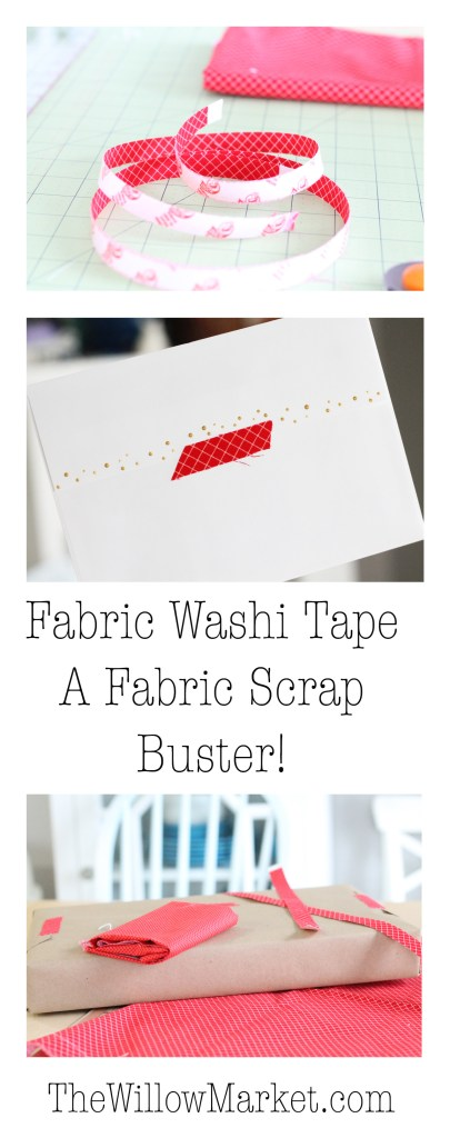 How to Make Fabric Washi Tape. Homemade Fabric Tape. A Scrapbuster.