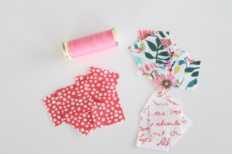 Homemade Valentines Day Cards. Fabric scrapbuster. Sewing homemade cards.