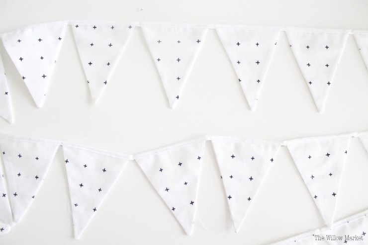 1Triangle Bunting. Triangle Garland. Decoration for a little boy room.
