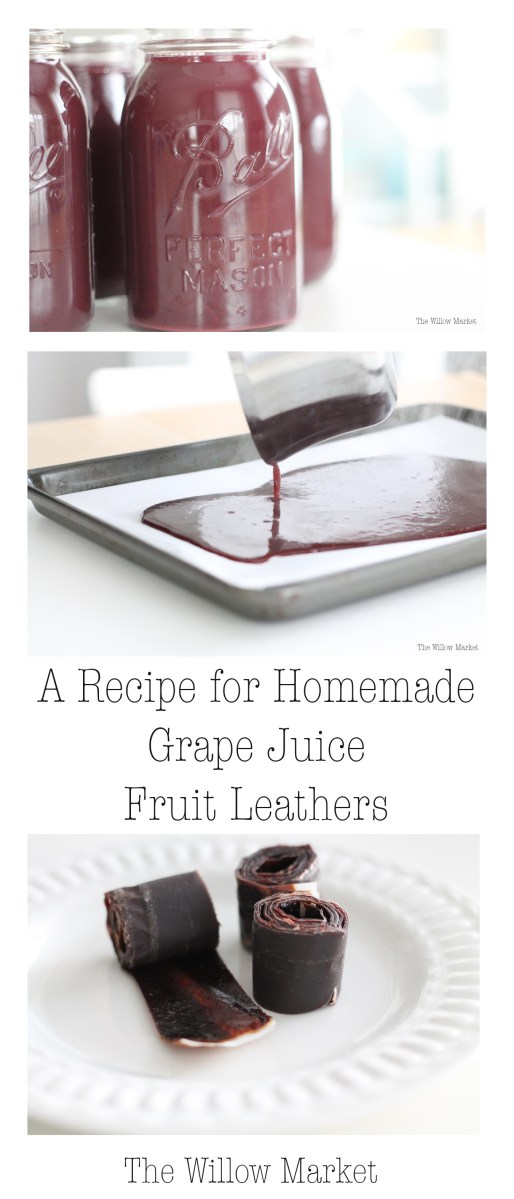 A Recipe for Grape Juice Fruit Leathers