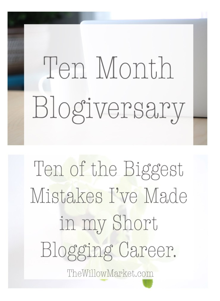 Ten mistakes I made in my blogging career in the first ten months.