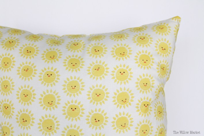 Emoji Sunshine Pillow Cover