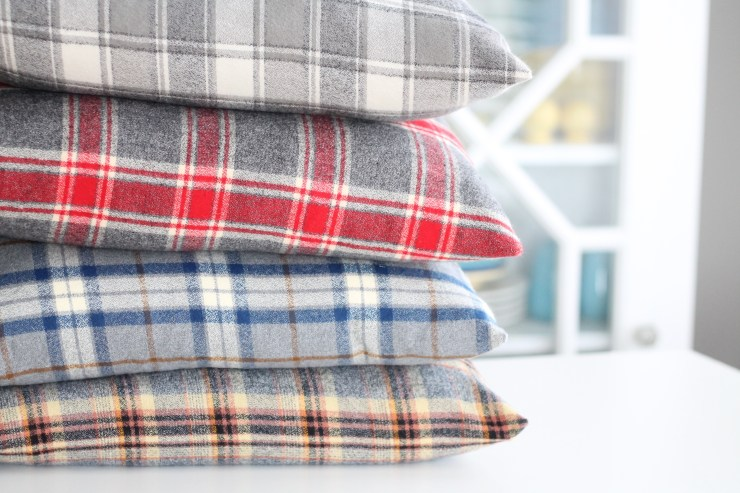 Plaid Pillow Covers. Flannel Pillow Covers. Fall Home Decor.