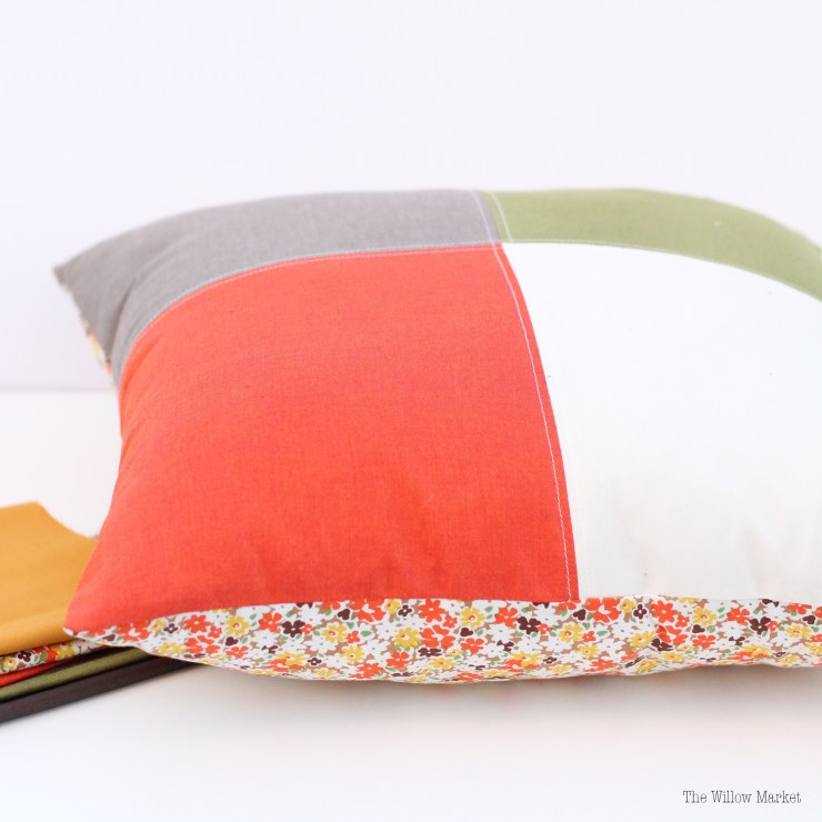 Fall Home Decor. Color Block Pillow. Fall Color Palette.