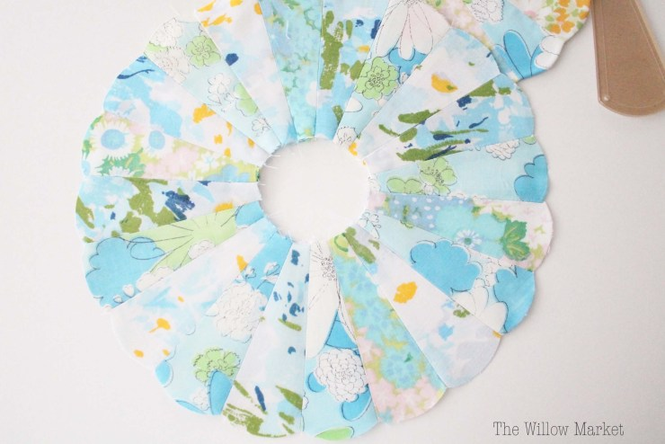 Tutorial, How to sew a Dresden Plate