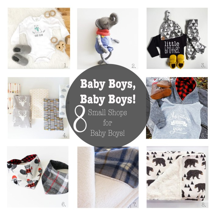 Small Shops for Baby Boys. Etsy Shops. Handmade clothes. Baby Boys. Black Friday.
