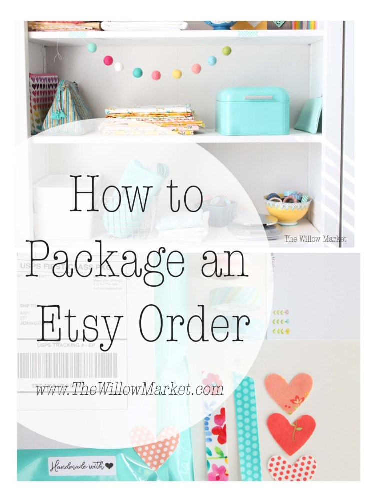 How to package an Etsy order. Cute and creative packaging supplies.