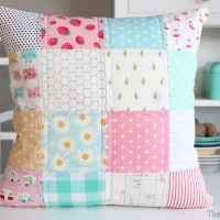 Pink Patchwork Pillow