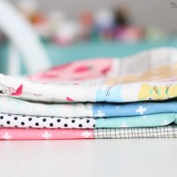 How to sew a basic burp cloth with terry cloth.