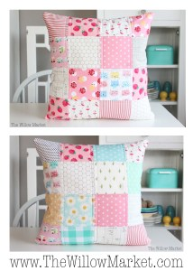 Pink Patchwork Pillow
