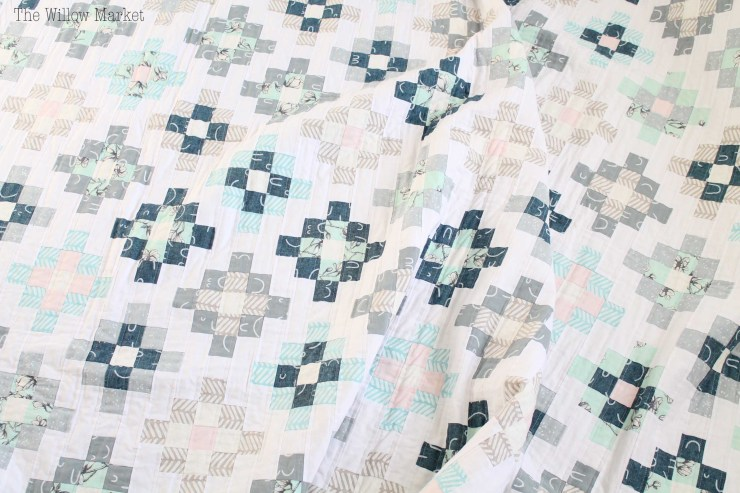 Takes the Cake quilt by Thimble Blossoms. Arroyo Fabrics by Erin Dollar. Granny Square Quilt.