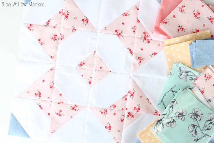Bowtie Flower Quilt by Quilter's Candy Box, Baby Girl Quilt