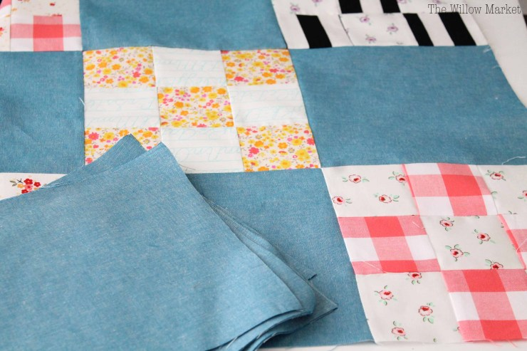 How to cut quilt squares bigger than your ruler.