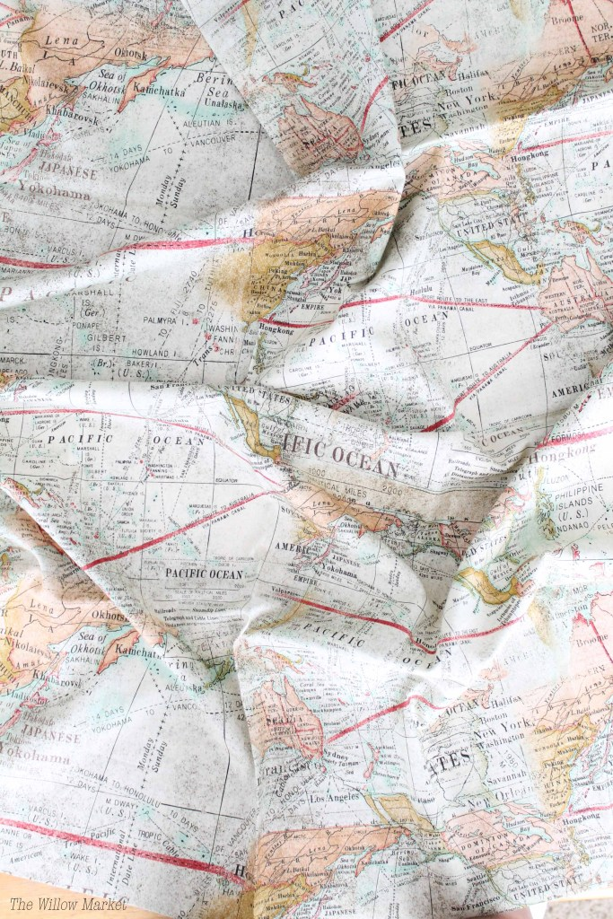 Branching out with some map fabric by tim holtz the willow market tim holtz map fabric map fabric patchwork pillow tim holtz fabric gumiabroncs Image collections