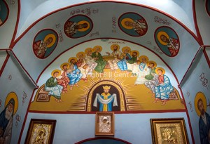 The interior of the Georgian Orthodox Church, Shenako