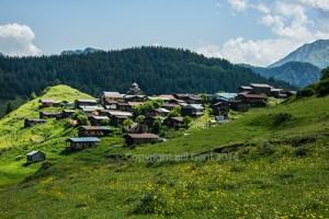 Tushetian village of Shenako