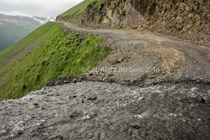 The Tusheti Road with its sheer drops into the valley below