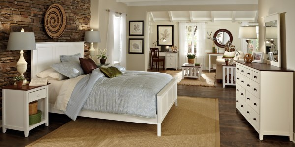 WhiteWood Snow White Rosewood Bedroom Suite