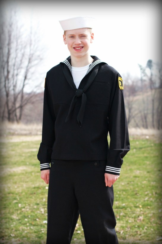 Aaron in Navy Uniform