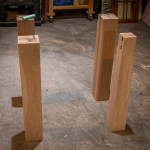 Figuring out the placement of each mortise.