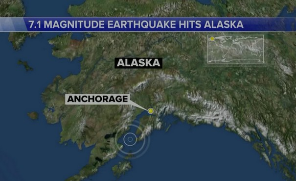 Alaska quake causes damage, gas leak