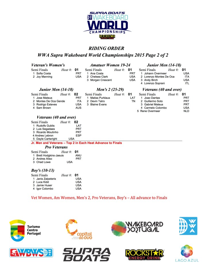 Worlds Wednesday Riding Order - Final p2