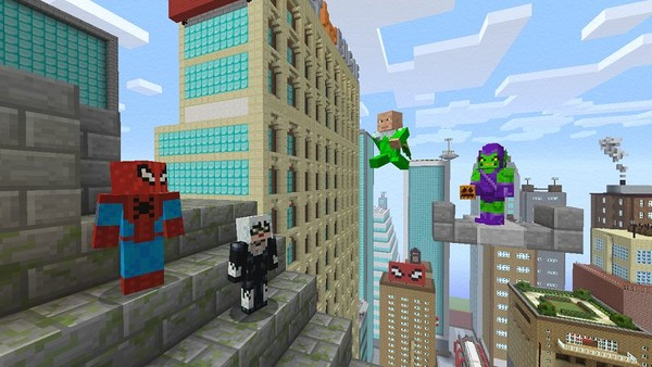 minecraft spiderman pic 1