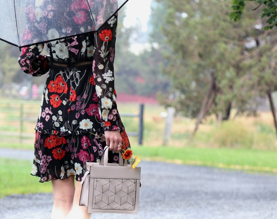 Rainy Sunday Best with Donna Morgan + Welden Bags 15c