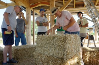 The Year of Mud: Straw Bale Workshop