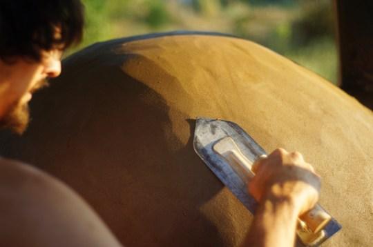 Cob Oven - Clay Plaster