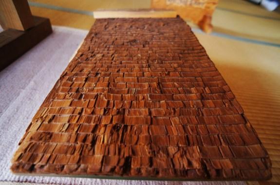 Hinoki Bark Roof