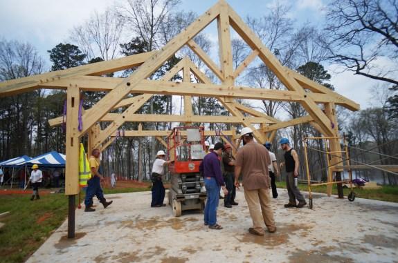 Timber Framers Guild Pavilion Raising