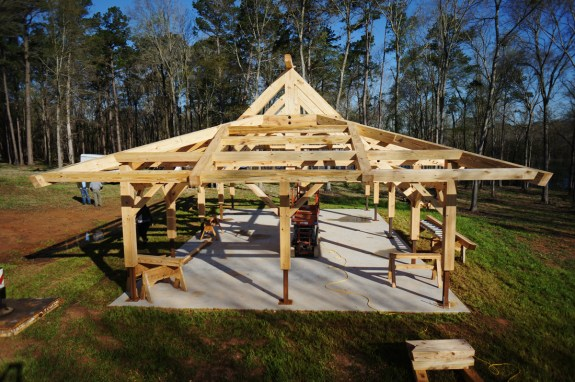 Timber Frame Compound Roof 01